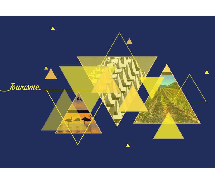 Création Graphique pour décors projetés / mapping soirée voeux Pays de L'or.