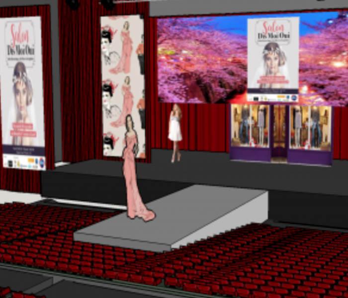 Modélisation 3D pour défilé avec décors virtuels projetés