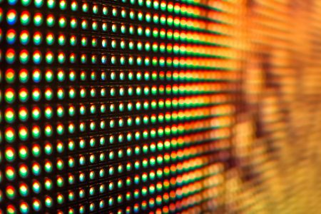 Fire colored LED screen - close up Background