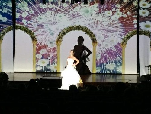 Projection salon mariage