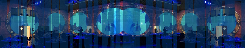 Réalisations décors virtuels projetés dans salle de Casino au Grau du ROI